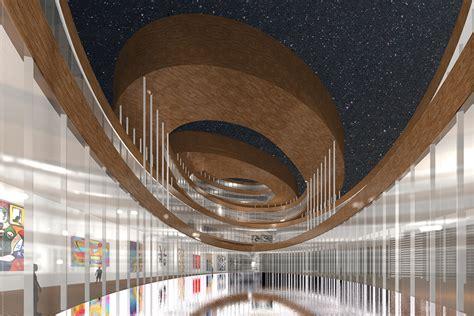 projet de musee guggenheim  helsinki ciel rouge creation