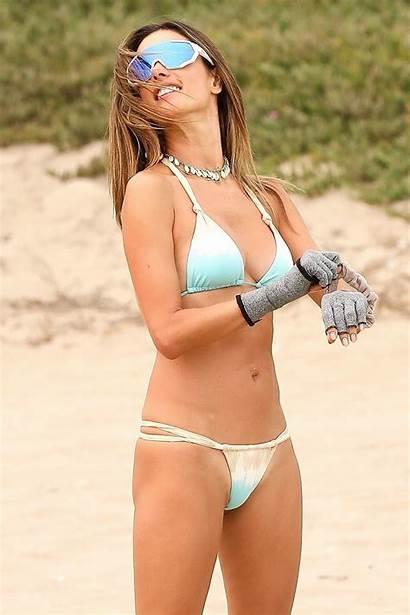 Alessandra Ambrosio Volleyball Bikini Tiny Wearing Pro