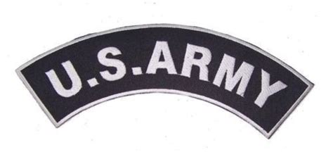 Us Army Top Rocker Patch Back Patch Black For Vet Biker