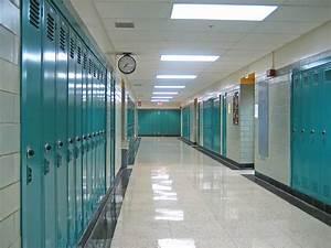 Walking Down A High School Hallway