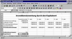 Kapitalwert Berechnen Formel : 10 bwl 1 kapitalwertmethode ~ Themetempest.com Abrechnung