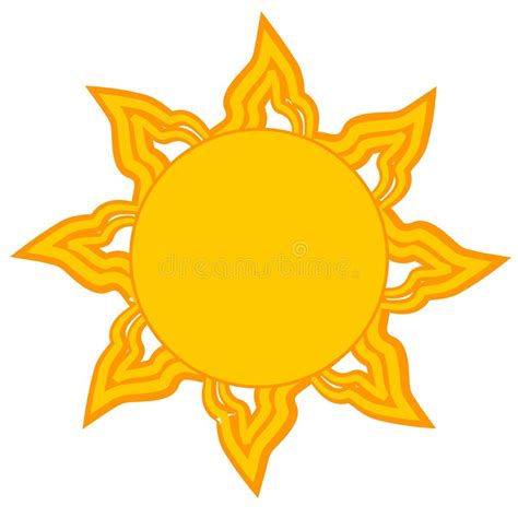 Bright Yellow Sun Clip Art stock illustration ...