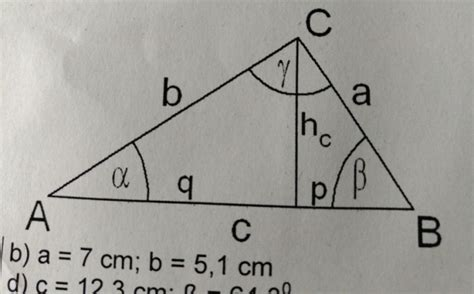 rechtwinkliges dreieck alle seiten ausrechnen anhand von