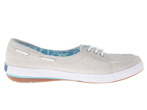 Keds Silver Boat Shoes by Keds Shine Boat Shoe Silver Brushed Twill Shipped Free