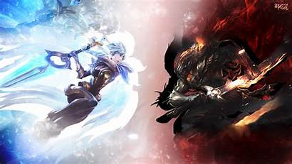 Yasuo Riven Legends League Wallpapers Desktop Anime