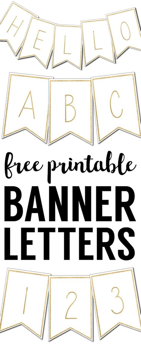 printable banner letters templates crafts