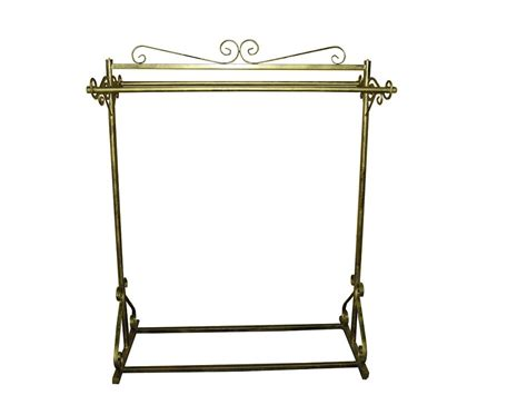elegant decorative boutique double bar clothes garment rack