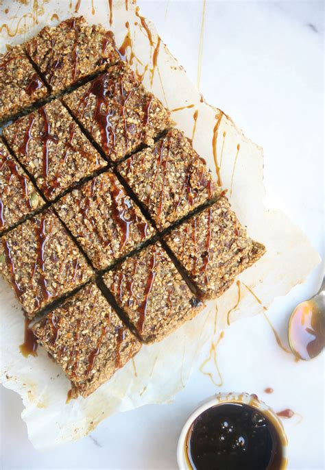 Superfood Healthy Pumpkin Breakfast Bars  Pure Ella