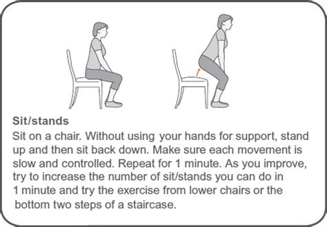 sit stand exercise for arthritis and hypermobility