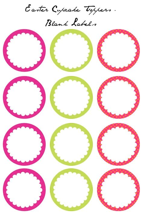 easter cupcake toppers  printables