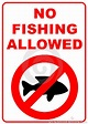 No Fishing Sign Stock Photo - Image: 9724870