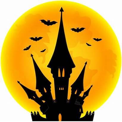 Halloween Moon Clip Castle Clipart Transparent Witch