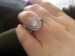 pics please of stacked wedding bands with halo ering With stacked wedding rings weddingbee