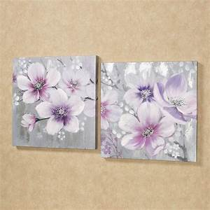 simplistic beauties floral canvas wall art set With floral wall art