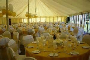 white banquet chair covers gold chair covers in a marquee