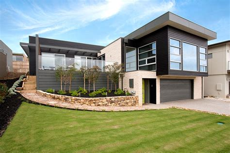home design building blocks sloping block house designs geelong split level house design
