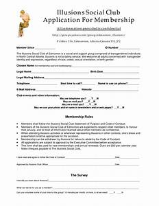 Best photos of club application form template club for Social club membership application form template