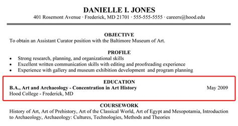 writing your resume college