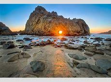 Framing the Sunset at Pfeiffer Beach Beach Bar Bums