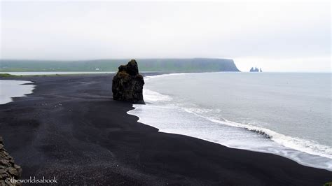 Walking Reynisfjara Black Sand Beach In Iceland The