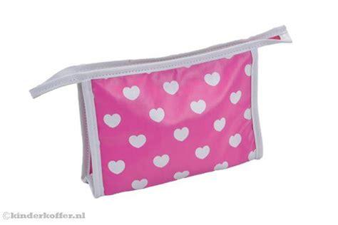 toilettas meisje zebra funkidz toilettas roze met hartjes kinderkoffer nl