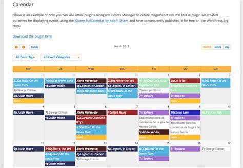 calendar plugins wordpress cultural listings site