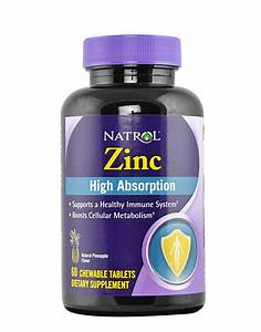 Zinc By Natrol  60 Chewable Tablets