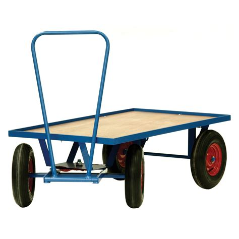 Large Wheel Warehouse & Distribution Trolley > Flatbed ...