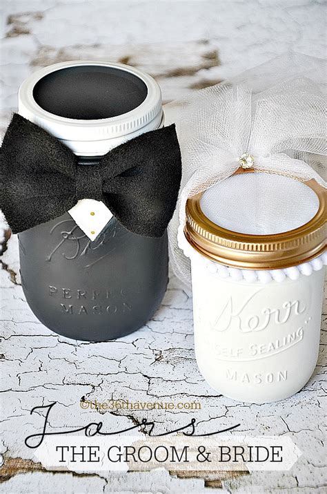 mason jar crafts groom bride   avenue