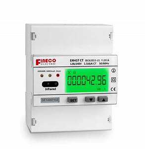Em427 Ct 120  240v 1 5 6 A Single Phase Three Wire Digital Smart Electricity Meter