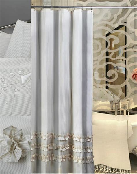 bathroom luxury shower curtains  elevate  interior