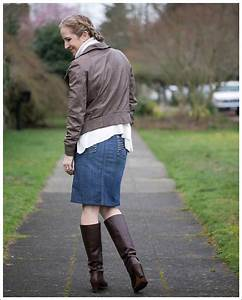 Leather Jackets + Denim Pencil Skirtsu2026