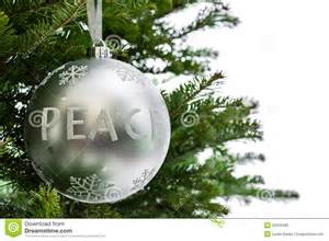 peace ornament hanging from a tree branch royalty free stock photo image 35310485