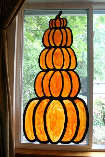 Fenster Bemalen Herbst by Pumpkin Window This Bold And Simple And To