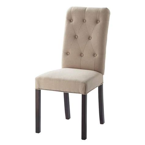 bois de la chaise chaise capitonnée en et bois beige elizabeth maisons