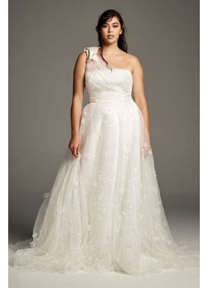 White By Vera Wang Tiered Organza Wedding Dress Davids