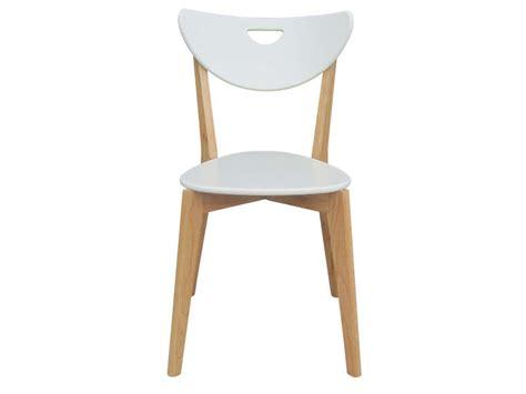chaise blanche de cuisine chaise skine coloris blanc vente de chaise conforama