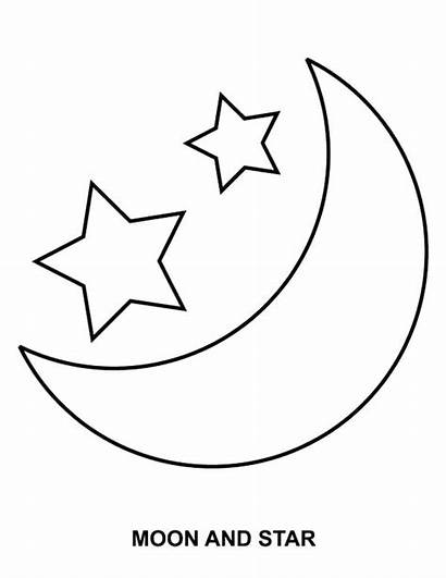 Moon Coloring Stars Pages Star Printable Sky