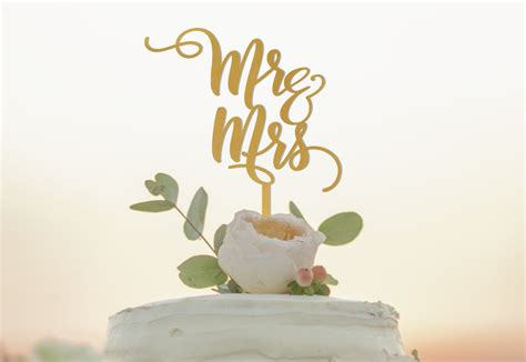 Mr And Mrs Cake Topper Wedding Cake Topper Custom Mr Mrs
