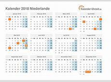 Feiertage 2018 Niederlande Kalender & Übersicht