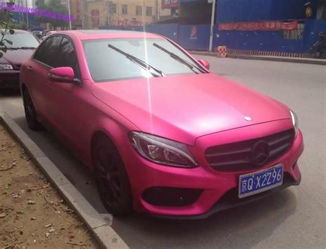 What Do You Think Of This Pink Mercedes-benz C-class L?