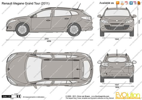 renault megane grand tour vector drawing