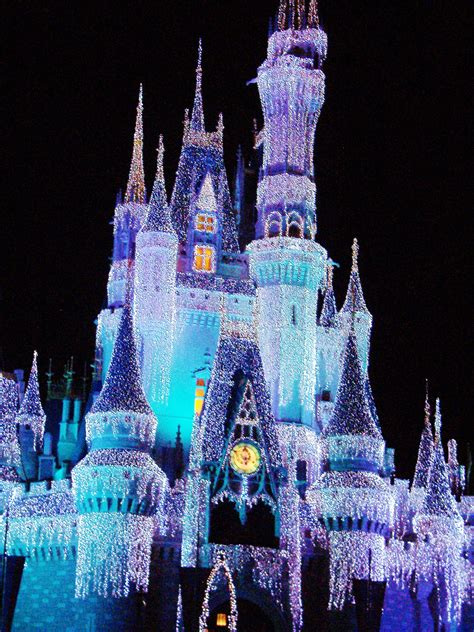 walt disney world lights castle