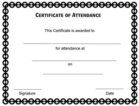 attendance certificate format  employees professional
