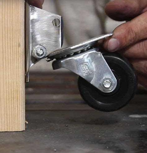retractable casters woodworking workbench