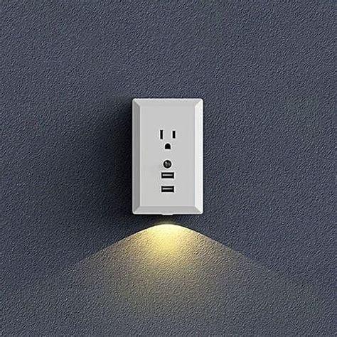 generic night light wall socket motion sensor dual usb