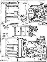 Hospital Coloring Ziekenhuis Kleurplaten Bed Kleurplaat Ziek Zo Het Van sketch template
