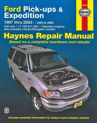 book repair manual 1997 ford expedition navigation system ford pick ups expedition and lincoln navigator 1997 2003 expedition 1997 2012 sagin workshop