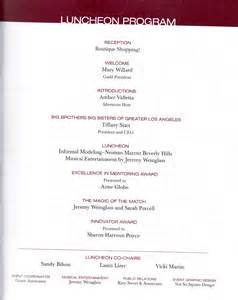 banquet program templates luncheon agenda images frompo 1