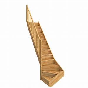Escalier Quart Tournant Bas : escalier quart tournant bas gauche deva bois lamell coll ~ Dailycaller-alerts.com Idées de Décoration